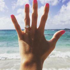 Engagement ring beach photo