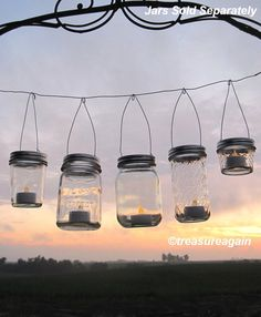 Easy Hang Jar Lids DIY Wedding Hanging Candles or Flowers, Hangers only, No Jars - Wedding Decorations