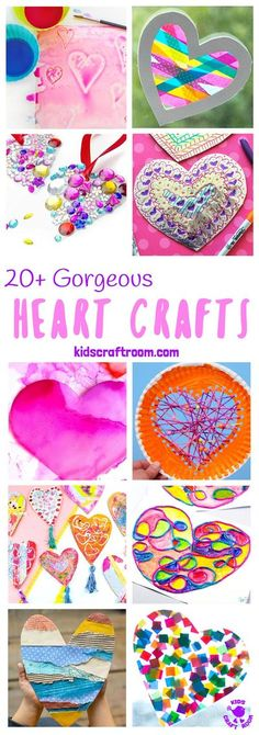 GORGEOUS HEART CRAFTS FOR KIDS - We've gathered together 20+ Heart Crafts For Kids that are stunning! All of these heart ideas are really achievable and most can be made with the type of supplies you've probably got in your art and craft cupboard already. Your kids will love them! Great for Mother's Day, Valentines or any time you want to spread a little love. #kidscraftroom #heartcrafts #kidscrafts #craftsforkids #kidsactivities #Mothersday CD Mothers Day Crafts For Kids, Easy Crafts For Kids, Fun Crafts, Art For Kids, Valentine Crafts, Holiday Crafts, Valentines, Arts And Crafts Storage, Arts And Crafts Projects