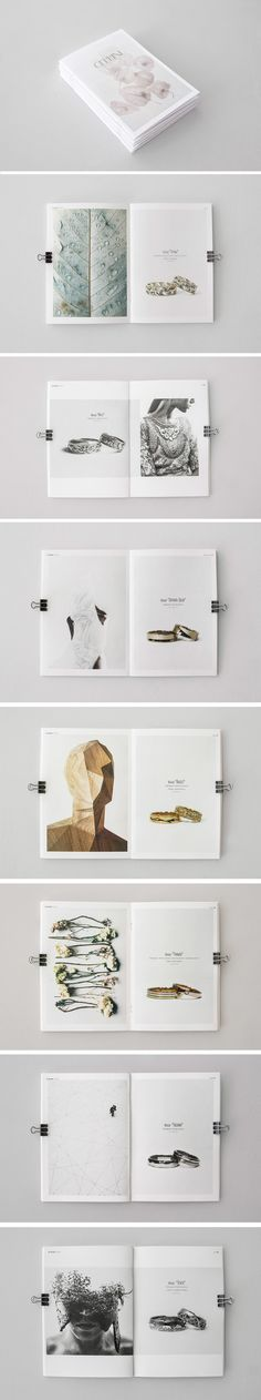 Catalog wedding rings for the jewelry studio CELLINI on Behance
