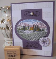 Tuscan Vineyard Watercolor by deniseinpa - Cards and Paper Crafts at…