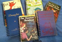Local artist, Karen Wellman, creates these fun journals with the covers from old books!