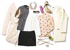 flat lay with clothing