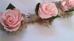 Garland Lace Wedding GARLAND Pink Roses by moniaflowers on Etsy