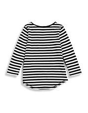 Girls 2 to 6 Striped Purse Top