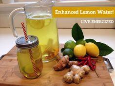 enhanced lemon water!