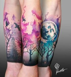 Tatuaje The water color work behind some realism is gorgeous here. I like all the colors. This is about an inch from where I want the hard line to be on my arm. Hand Tattoos, Flower Tattoos, Body Art Tattoos, Tatoos, Tattoo Arm, Aquarell Tattoo Schrift, Aquarell Tattoos, Creative Tattoos, Unique Tattoos