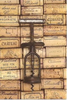 Antique corkscrew-we don't have a drinking problem here we have a storeage problem for all this darn cork!--lol