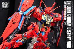 Unicorn Gundam Neo Zeon Type - Custom Build Modeled by afflatus studio Unicorn Gundam, Garage Kits, Gundam Model, The 100, Resin, Type, Building, Image, Studio