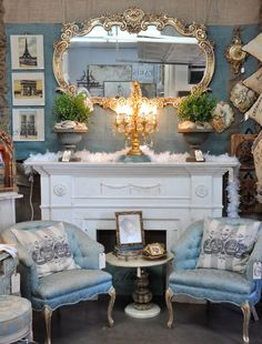 Beautiful...French Shabby decor.  Wouldn't work in this house but maybe someday.....
