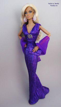 Purple Amethyst Lamé Fashion For Fashion Royalty and Silkstone Barbie