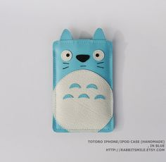 Totoro iPhone 4 Case / iPhone 4S Cover / iPod Case / iPhone 3gs Case -- Kawaii Totoro in Blue