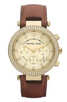 Michael Kors 'Parker' Chronograph Leather Watch | Nordstrom