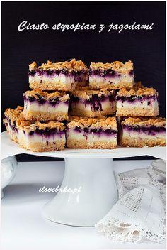 Ciasto styropian z jagodami - I Love Bake Waffles, French Toast, Sweets, Baking, Breakfast, Recipes, Album, Food, Cake Recipes
