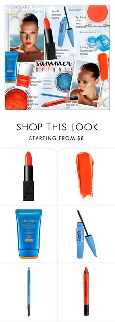 """""""Summer Brights"""" by alexandrazeres ❤ liked on Polyvore featuring beauty, NARS Cosmetics, NYX, Shiseido, Barry M, Estée Lauder, Urban Decay, Butter London, makeup and cosmetics"""