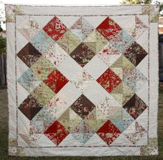 Granny's Quilt (#1005) by Coras Quilts | Quilting Pattern - Looking for your next project? You're going to love Granny's Quilt (#1005) by designer Coras Quilts. - via @Craftsy