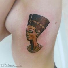 Amazing Nefertiti tattoo by tattoo_gale (insta) Galina Sim