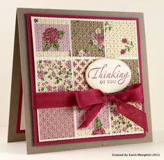 SUO Thinking of You by Karin Menghini - Cards and Paper Crafts at Splitcoaststampers
