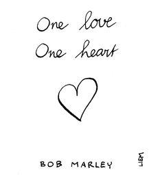 Bob Marley. One Love (People Get ready). 365 illustrated lyrics project, Brigitte Liem.