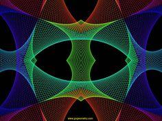 Geometric Yarn String Art   Software, String Art 06: Bézier curves, Geometric Pattern, Symmetry ...