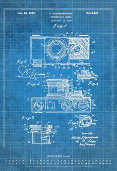 Office wallpaperingor framing vintage camera blueprint google vintage patent blueprints 2016 poster calendar art remedy llc 0050837343412 amazon malvernweather Gallery
