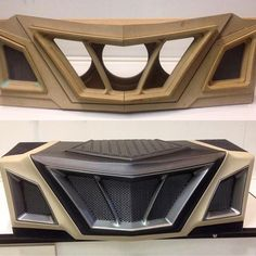 Car audio - potentially a similar design for front grill - Auto Modelle Custom Car Interior, Car Interior Design, Truck Interior, Design Cars, Custom Car Audio, Custom Cars, Car Interior Upholstery, Xjr 1300, Car Audio Installation