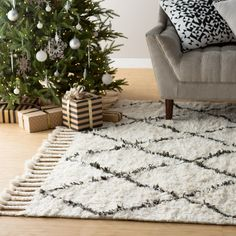 Found it at Wayfair - Twinar Hand Knotted  Black Area Rug $795- 9 x 12