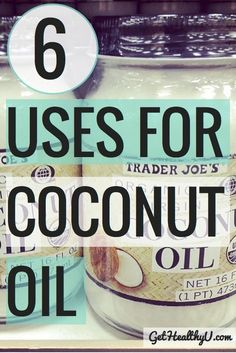 6 uses for Coconut Oil-  Try it in the kitchen and for your body, both  inside and out! #cocoonutoil