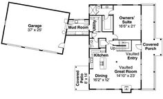 Country Style House Plan - 3 Beds 2.5 Baths 2886 Sq/Ft Plan #124-771 Floor Plan - Main Floor Plan - Houseplans.com