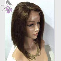 Yaki recto corto bob pelucas para las mujeres negras del frente del cordón sintético resistente al calor peluca con el pelo del bebé parte derecha envío gratis en Pelucas de Salud y Belleza en AliExpress.com | Alibaba Group