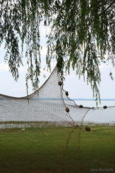 Reti stese in riva al lago #AlTrasimeno foto di @qualcosadirosso