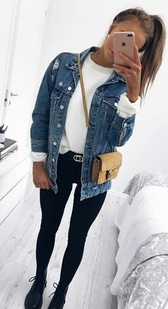 58 Fashion Teenage To Inspire - Luxe Fashion New Trends 58 Fashion Teenage To Inspire fall outfits casual Winter Outfits For School, Fall Winter Outfits, Spring Outfits, Black Outfits, Winter Boots, School Outfits, Cold Weather Outfits Casual, Teenage Outfits For School, School Ootd