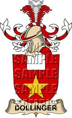 Dollinger Family Crest apparel, Dollinger Coat of Arms gifts
