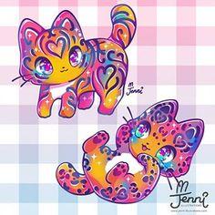 Cute Kawaii Animals, Cute Animal Drawings Kawaii, Kawaii Chibi, Kawaii Art, Unicornios Wallpaper, Image Chat, Kawaii Illustration, Anime Animals, Cute Creatures