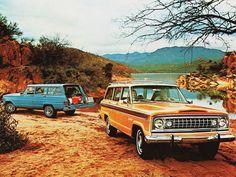 Jeep Wagoneer (1974). We hadden die oranje...