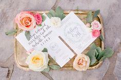 Summer garden wedding invitation suite #cedarwoodweddings Hillary+Jeff :: 07.09.16 | Cedarwood Weddings