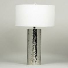 Olivia Table Lamp, White Shade, 3-way 150W