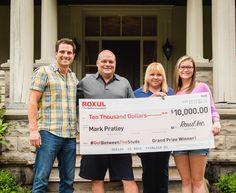 Scott McGillivray presents $10,000 cheque to ROXUL