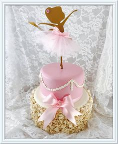 Good cake , for more image click this image Ballerina Party Decorations, Ballerina Birthday Parties, Princess Birthday, Baby Birthday, Birthday Cake, Bolo Fack, Ballerina Cakes, Themed Cakes, Cake Toppers