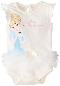 Amazon.com: Disney Baby-Girls Newborn Princess Cinderella Creeper with Ruffle: Clothing