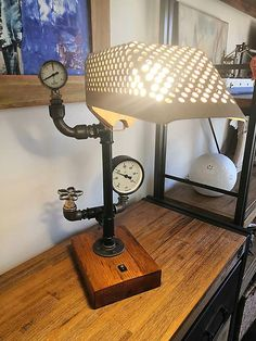 Steampunk Lamp, Table Lamp, Lights, Handmade, Home Decor, Highlight, Homemade Home Decor, Hand Made, Table Lamps