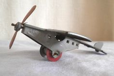 Old Tin GERMAN PENNY TOY PLANE