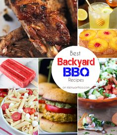 Backyard BBQ Recipes - this round up has it all. Anything you could ever want for your BBQ. YUM!!  So many great ideas. on kleinworthco.com
