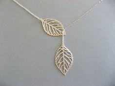Lariat Style Leaf Necklace