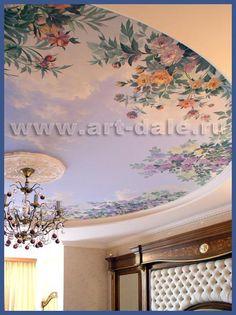 Роспись потолка в спальне