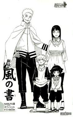 Tags: NARUTO, Uzumaki Naruto, Hyuuga Hinata, Kishimoto Masashi, Official Art, Uzumaki Family, Uzumaki Himawari, Uzumaki Boruto
