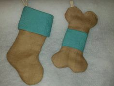 Check out this item in my Etsy shop https://www.etsy.com/listing/250355387/dog-bone-christmas-stockings-burlap-dog