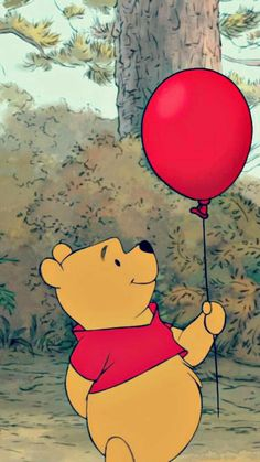 Beautiful Wallpaper Ideas Cartoon Disney Winnie The Pooh For Your Iphone - Holiday Everyday Cartoon Wallpaper Iphone, Disney Phone Wallpaper, Iphone Background Wallpaper, Cute Cartoon Wallpapers, Aesthetic Iphone Wallpaper, Iphone Wallpapers, Red Wallpaper, Disney Phone Backgrounds, Samsung Galaxy Wallpaper