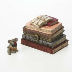 Romeo's Book of Love with Shakespeare Mcnibble, Boyds Tresure Box 4026259 by Boyds Bears. $15.66. This beautifully detailed treasure box depicts stacked famous books written about love, by William Shakespeare and other authors. Shakespeare McNibble lives inside.