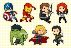 So adorable...so deadly. #TheAvengers #Chibis
